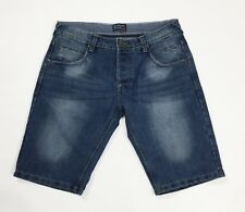 cotton silk shorts jeans uomo usato blu boyfriend mare estate spiaggia T3736