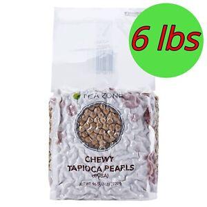 Chewy Boba Tea Zone 6 lbs(96oz) Tapioca for Bubble Milk Tea Black Pearl Toppings