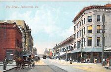 c.1910 Stores Bay St. Jacksonville FL post card