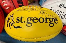 St.Kilda - Nick Riewoldt signed official St.Kilda game day sherrin - St.George