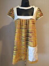 Nuvula Wear Your Imagination Boho Chic Tie-die Eyelet Top Tunic Size S