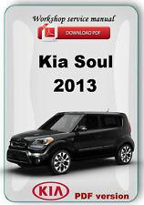 Kia Soul 2013 Factory Workshop Service Repair Manual + Etm