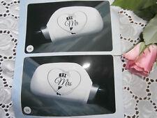 SET = 2x Autospiegel- Außenspiegel-Überzieher MR & MRS  Autofahne Autoflagge