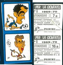 Calciatori Panini 1969-70 Prosdocimi Corso-Puia! Nuovi con velina! 7a-16a! RARE