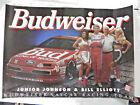 "Vtg 1994 Budweiser Junior Johnson Bill Elliott Poster 28 X 20"" NASCAR"