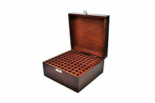 100 Compartment Wooden Storage Organiser Tool Holder Box for Metal Stamps. J1510