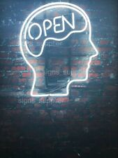 "New Open Mind White Neon Sign Beer Cub Gift Light Lamp Bar Wall Room 24""x20"""