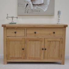 Oak Large Sideboard Chunky Oak Top Storage Cupboard / Solid Wood Dresser Dorset