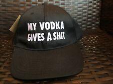 Absolut Vodka Black My Vodka Gives a S**T Baseball Hat Strapback Very Rare New