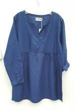 Seasalt Orchard Vale French Navy Blue Tunic Top Uk16 Chest 42""