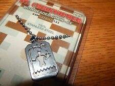 "NEW MILITARY GI JEWELRY STAINLESS"" ST. CHRISTOPHER "" PENDANT & CHAIN  USA"