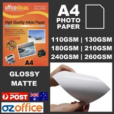 A4 Glossy Matte Photo Paper 110GSM 180GSM 210GSM 240GSM 260GSM Satin RC Base