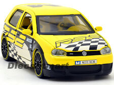 MAISTO 1:24 ALL STARS VW VOLKSWAGEN GOLF R32 DIECAST MODEL CAR YELLOW 31043