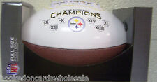 Pittsburgh Steelers 6 time Super Bowl Champ on the Fifty Commemorative Football