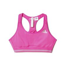 adidas Techfit Chill Womens Pink Fitness Running Gym Sports Bra Support Top M