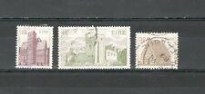 R943 - IRLANDA 1986 - SERIE COMPLETA USATA ARCHITETTURA N°594/596 - VEDI FOTO
