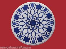 """23"""" Marble Center Table Top Lapis Inlay Handmade Work Home Decor"""
