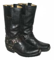 Damen- Westernstiefel / Biker- Boots / Stiefel / Lederstiefel in schwarz Gr. 37