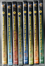 LA GRANDE STORIA DEI GOAL MONDIALI=8 DVD=DAL 1950 AL 2002=PELE-MARADONA-CRUYFF