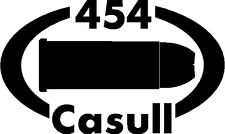 454 CASULL gun pistol Ammunition Bullet exterior oval decal sticker car or wall
