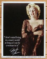 Marilyn Monroe Mans World Tin Sign metal poster blonde pinup bar wall decor 1492