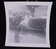 VINTAGE PICTURE OF WOMAN SITTING IN CONVERTIBLE FROM 1964 PHOTO PHOPTGRAPH
