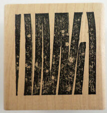 City'S Originals Grass Tiger Stripes Bamboo Forest Graphic Wooden Rubber Stamp