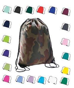 Water Resistant Gym Sack Swim Shoe PE Kit Bag