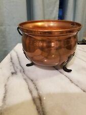 Decorative Copper & Black Iron Cauldron Pot Planter Kettle Witch Pot