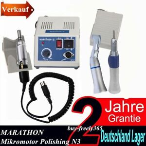 Dental Marathon 35K RPM Mikromotor Micromtor Unit N3 mit Polishing Handstück  DE