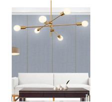 Modern Gold Metal Chandelier Pendant Lighting Industrial Lamp Hanging Fixtures
