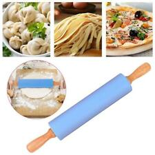 30cm Non-Stick Silicone Rolling Pin Pastry Baking Decorating Tool Dough Roller