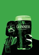 GUINNESS DARTH VADER STAR WARS A4 260GSM POSTER  PRINT