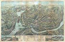 1876 O. H. Bailey View of Norwich, Connecticut