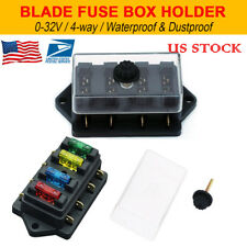 12V 24V 4 WAY  HEAVY DUTY FUSE HOLDER KIT BOX CAR CIRCUIT BLADE FUSE BOX BLOCK