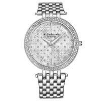Stuhrling 3962 1 Symphony Quartz Crystal Accented Stainless Steel Womens Watch