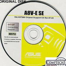 ASUS GENUINE VINTAGE ORIGINAL DISK FOR A8V-E A8V  Motherboard Drivers Disk M572