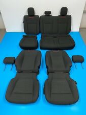 2018 FORD F150 XLT SPORT FRONT & REAR SEAT COVER WITH FOAM BLACK & RED STITCHING