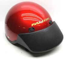 KBC Falcon Motorcycle Helmet Fiberglass Size XXL DOT Cert Red+ Snap On Visor