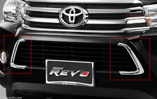 CHROME BUMPER LOWER GRILLE LINE COVER FOR TOYOTA HILUX REVO PICKUP M70 M80 2015+