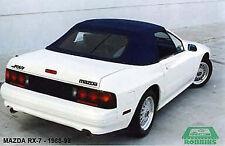 1988 - 1992 Mazda RX-7 Black Vinyl Convertible Top Cover