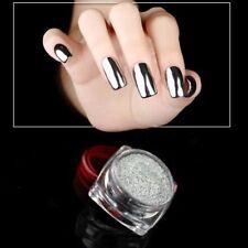 2g/box Nail Art Holographic Chrome Mirror Shine Sliver Nail Glitter Powder