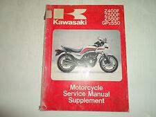 1983 1984 Kawasaki Z400F Z500F Z550F GPZ550 Service Manual Supplement OEM