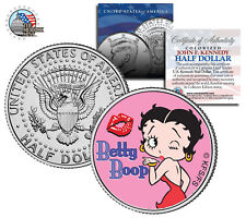 """Betty Boop """"Kiss"""" Jfk Kennedy Half Dollar Us Coin *Officially Licensed*"""