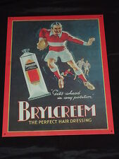 Picture  Brylcream The Perfect Hair Dressing /Barber Shop Vintage Salon Sign