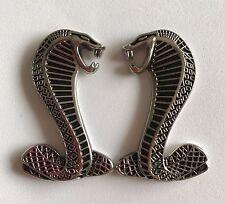 For Dodge Viper Cobra Snake Emblem Badge Fender Side Metal Silver Decal Sticker