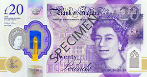 2020  NEW POLYMER ISSUE bank of england currency £20 twenty pound banknotes UNC