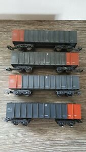 4 x Lima OO Gauge Pta Wagons 'loadhaul' with loads