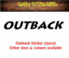 900mm Outback Jayco Caravan Sticker - Any Colour!