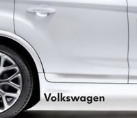 2x Side Skirt Stickers VW Volkswagen Golf Polo Premium Qaulity Decals VL108